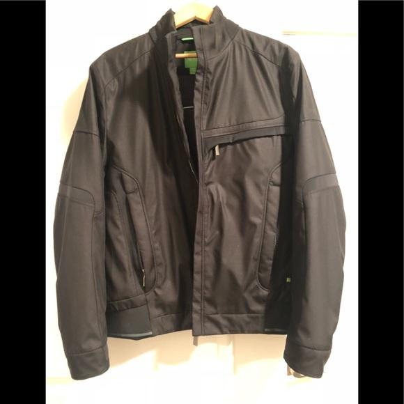hugo boss leather jacket mens price